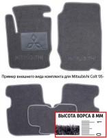 Коврики в салон для Mitsubishi L200 / Triton '10-15 текстильные, серые (Премиум)
