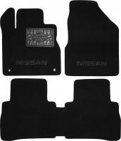 Коврики в салон для Nissan Murano '11-  текстильные, черные (Люкс)