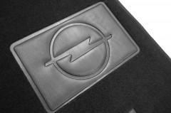 Фото 9 - Коврики в салон для Opel Zafira Tourer '12-  текстильные, черные (Люкс) 1+2+3 ряд