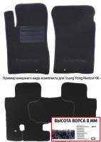 Коврики в салон для Ssangyong Rexton '01-06  текстильные, черные (Премиум)