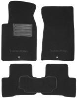 Коврики в салон для Ssangyong Rexton II '06-12  текстильные, черные (Премиум)