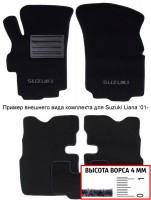 Коврики в салон для Suzuki Splash '08-  текстильные, черные (Люкс)