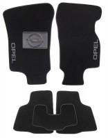 Коврики в салон для Opel Astra G '98-10 текстильные, черные (Люкс)