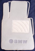 Коврики в салон для BMW 7 E65 '01-08 текстильные, бежевые (Люкс)
