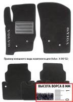 Коврики в салон для Volvo S60 '00-10  текстильные, черные (Премиум)