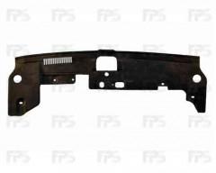 Накладка над радиатором пластиковая для Mitsubishi Lancer X (10) '12- (верхний дефлектор) (FPS)