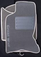 Коврики в салон для Great Wall Hover H5 '10- текстильные, серые (Люкс)