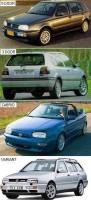 Отражатель для Volkswagen Golf III '91-97, малый, белый, левый (Magneti Marelli)
