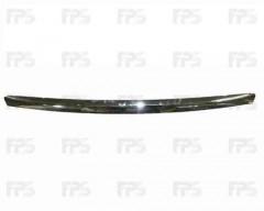 Накладка капота для Ford Focus II '08-11, хром (FPS)