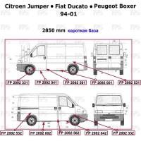 Ремонтная часть бока для Fiat Ducato '94-06, короткая база, нижняя, цинк, правая (FPS)