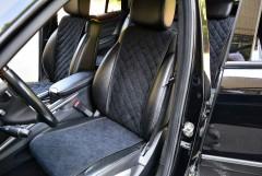 Фото 1 - Накидки на сидения  АVторитет Стандарт, черные (комплект)