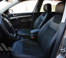 Авточехлы Leather Style для салона Skoda Octavia A5 '05-13, с задним подлокотником (MW Brothers)