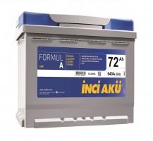 Автомобильный аккумулятор INCI AKU Formul A Asia 72Ач