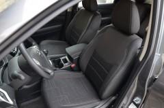 Авточехлы Premium для салона Nissan X-Trail (T32) '14-, серая строчка (MW Brothers)