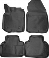 Коврики в салон для Ford Tourneo Courier '13- полиуретановые, черные (Lada Locker)