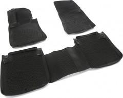 Коврики в салон для Kia Quoris '12- седан полиуретановые, черные (Lada Locker)