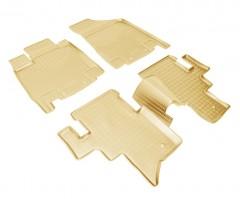 Коврики в салон для Infiniti JX '12- полиуретановые, бежевые (Nor-Plast)