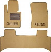 Коврики в салон для Land Rover Range Rover Supercharged '02-12 текстильные, бежевые (Люкс)