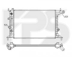 Радиатор охлаждения двигателя для Opel (FPS) FP 52 A281-X