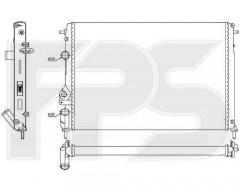 Радиатор охлаждения двигателя для Renault (Nissens) FP 56 A1149
