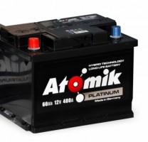 Автомобильный аккумулятор Atomik 60 Ач, левый плюс