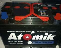 Автомобильный аккумулятор Atomik 74 Ач левый плюс