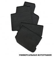 Коврики в салон для Volkswagen Polo '02-05 седан резиновые, черные (Petex)