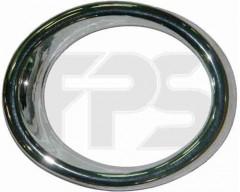 Рамка противотуманной фары для Chevrolet Aveo '08-11 Хетчбек левая (FPS) хром