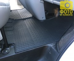 Фото 3 - Коврики в салон для Opel Vivaro '01-14, резиновые (PolyteP)