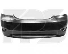 Бампер задний для Hyundai Accent (Solaris) '11-, седан, черный (FPS)