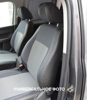 Авточехлы Premium для салона Volkswagen Passat B7 '10-14, универсал, серая строчка (MW Brothers)