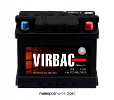 Автомобильный аккумулятор A-MEGA Virbac Classic 60Ач, правый плюс