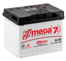 Автомобильный аккумулятор A-MEGA Ultra+ 64Ач, правый плюс