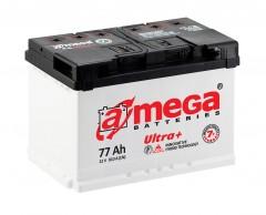 Автомобильный аккумулятор A-MEGA Ultra+ 77Ач, правый плюс