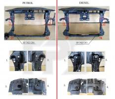 Передняя панель для Volkswagen Passat B7 '10-14, бензин (FPS)