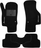Коврики в салон для Volkswagen Golf VII '12- текстильные, черные (Стандарт)