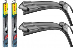 Щетки стеклоочистителя бескаркасные Bosch AeroTwin Retrofit 650 и 530 мм. (набор) AR 26 U+AR 21 U