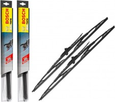 Щетки стеклоочистителя каркасные Bosch Twin 550 и 500 мм. (набор) 500 U + 550 U