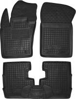 Коврики в салон для Fiat 500X '14- резиновые, черные (AVTO-Gumm)