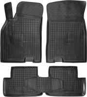 Коврики в салон для Renault Megane '08-16, хэтчбек резиновые, черные (AVTO-Gumm)