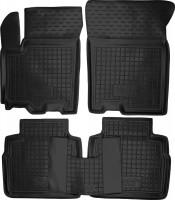 Коврики в салон для Suzuki SX4 '13- резиновые, черные (AVTO-Gumm)