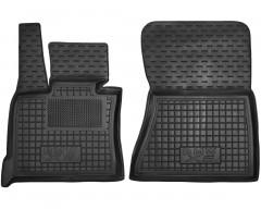 Коврики в салон передние для BMW X5 E70 '07-13 резиновые, черные (AVTO-Gumm)
