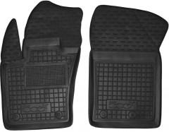 Коврики в салон передние для Fiat 500X '14- резиновые, черные (AVTO-Gumm)