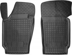 Коврики в салон передние для Skoda Fabia III '15- резиновые, черные (AVTO-Gumm)