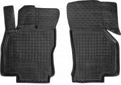 Коврики в салон передние для Skoda Superb '15- резиновые, черные (AVTO-Gumm)
