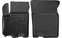 Коврики в салон передние для Suzuki Vitara '15- резиновые, черные (AVTO-Gumm)