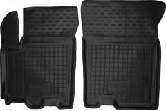 Коврики в салон передние для Suzuki SX4 '13- резиновые, черные (AVTO-Gumm)