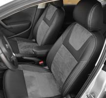 Авточехлы Leather Style для салона Volkswagen Polo '10-, седан, с цельной спинкой (MW Brothers)