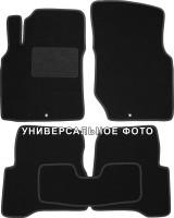 Коврики в салон для Hyundai Santa Fe '13-17 DM текстильные, черные (Люкс) 3 клипсы