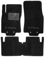 Коврики в салон для Nissan X-Trail (T32) '14- текстильные, черные (Люкс)